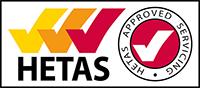 HETAS Approved Servicing Logo
